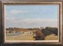 Jean-pierre Stauffer Le Pont Dand039aygues Original Signed Oil Painting Of France