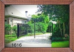 Free Shipping* Incl Post PKG Driveway Gate # 1616 11 Ft Wide DS Steel  Iron