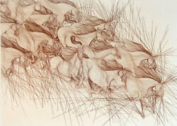 Guillaume Azoulay Le Mouvementhorse Hand Signed Fine Art Etching Make Offer