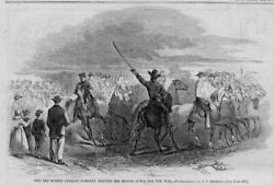 Des Moines Iowa Civil War Cavalry Company Going To War On Horseback 1861 History