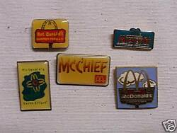Mcdonalds Lapel And Hat Pins Or Tie Tacs 18 Mcchief