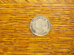 Canada 1893 silver 5 Cents coin Extremely Fine nice