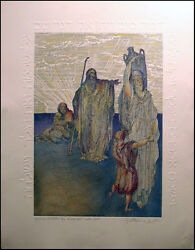 Guillaume Azoulay Dore Suite Dream And Agar Hand Signed Etching W/ Embossing Obo