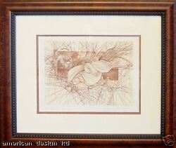 Guillaume Azoulay, The Fall, Hand Signed Fine Art Etching Horse Submit Offer