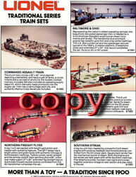 1983 Lionel Trains Traditional Series Train Sets Advertisement 1 Page Mint