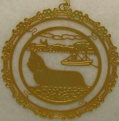 Skye Terrier Jewelry Gold Ornament