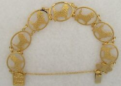 Cairn Terrier Jewelry Gold Bracelet by Touchstone