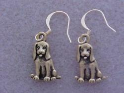 DOG Beagle or Spaniel Mixed Mutt Pewter Charm  Earrings GP