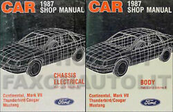 1987 Lincoln Continental and Mark VII Repair Shop Manual Set ORIGINAL Service 87
