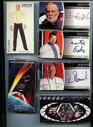 Star Trek Skybox Insurrection Movie Complete Card Set Autographed 1998 7 Subsets