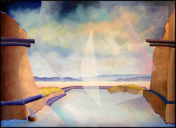 Carlos Carulo Pecos National Monument Original Art Painting on Canvas New Mexico