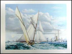 Pete Peterson Lipton Challenges The Cup Hand Signed Art Serigraph Submit Offer