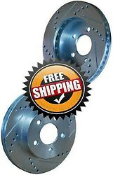 Buick Apollo 1973 73 Drilled Slotted Brake Rotors Front
