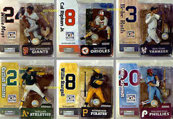 Cooperstown Series 2 Action Figure Set Of 6 Mcfarlane Sports Mlb Babe Ruth