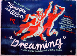 Dreaming 1944 Bud Flanagan Chesney Allen - Clifford Rowe - Uk Quad Poster