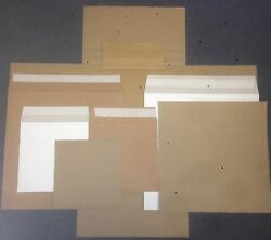 Strongest All Board Vinyl Lp Record Mailers + - Stiffeners 7+ 12 + Cruciform