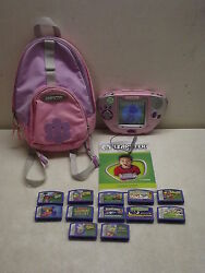 Leap Frog Leapster System W/12 Games Booklet And Backpack