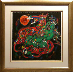 Tie Feng Jiang Freedom Suite West On Paper Hand Signed New Custom Frame