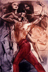 G H Rothe Dance For Pleasure Art Hand Signed Limited Edition Mezzotint Obo
