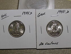 1944 D And 1945 D 20 Centavos Philippines Gems-outstanding Pair