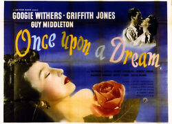 Once Upon A Dream 1949 Googie Withers, Griffith Jones Uk Quad Poster