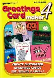 Greeting Card Maker 4 - Design Create Printing Software - Pc Cd-rom Brand New