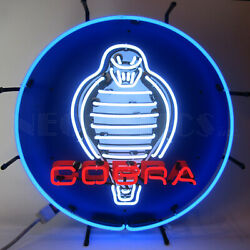 Neon Sign Wholesale Lot Of 6 Muscle Car Garage Ford Mustang Shelby Cobra V8 Olp