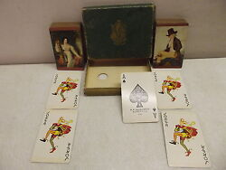 2 Vintage Fairchild Playing Cards W/jokers Victorian