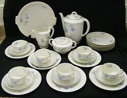 Arzberg Lunch 22pc Set Coffee Pot, Cream And Sugar, Cups And Saucers, Plates, Tray