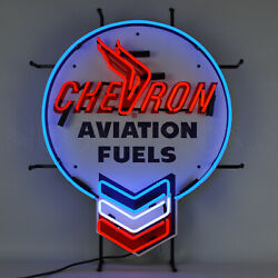 My Collection 5 Neon Sign Texaco Standard Gasoline Sky Chief Chevron Red Crown