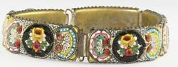 Vintage Italy Italian 1930and039s Or 1940and039s Italian Micro Mosaic Bracelet