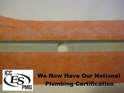 5and039 Shower Trench Drain With Fabric Membrane Glue Flange Linear Slot Line