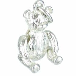 Teddy Bear Sterling Silver Charm With Movable Arms - Legs .925 X 1 Charms
