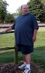 Big And Tall Cotton Tee. Sizes 4 Xlt To 8xlt. With And Without Pockets. Made In Usa
