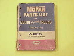 1953 1954 1955 C Series Dodge Job Rated Truck Parts List July 1955 Edition
