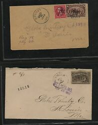 Us Colombian And Tran-miss Cover Lot Mostly Registereds Look Ms0825