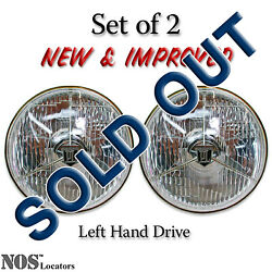 Lucas Pl700 7and039and039 Halogen Headlights Set Of 2 With Bulbs - New And Improved