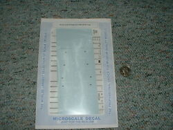 Microscale Decals N 60-558 Santa Fe Freight Cars 1988 With 24 Logo A76