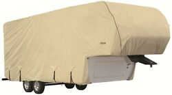 Goldline Premium Rv Trailer 5th Wheel Cover Fits 30 To 32 Foot Tan 30 31 32 Ft