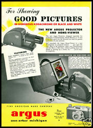 1941 Vintage Ad For Argus Projector Home Viewer
