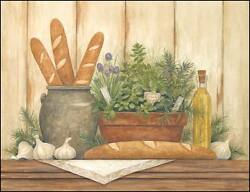 Art Print, Framed Or Plaque By Annie Lapoint - Herbs In My Kitchen - Alp536-r