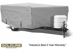 Goldline Premium Folding Pop Up Camper Cover Fits 14 To 16 Ft - Grey