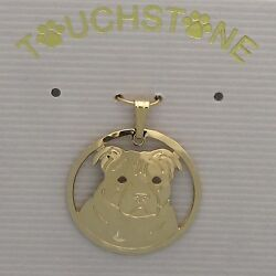 Staffordshire Bull Terrier Jewelry Gold Pendant