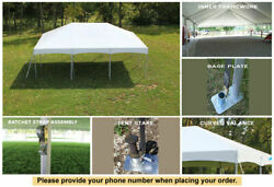 10' X 20' Master Series Frame Tent White Wedding Tent Party Canopy