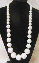 Vintage White Lucite Beaded Runway Necklace