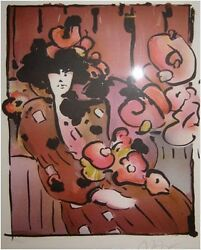 Max Peter Brown Lady With Vase Print Make Offer