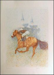 Guillaume Azoulay Twin Spires Serigraph 1983 Hand Signed Artwork Submit Offer