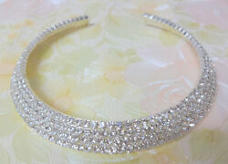 Vintage Sparkling Clear Rhinestone Haute Couture Runway Choker Necklace