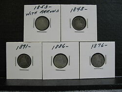 Assorted Seated Liberty Dimes-decent Specimans- Free Shipping