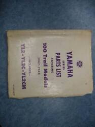 Yamaha Parts List Numbers Manual 1972 Yl2 Yl2c Yl2cm 100 Trail Models